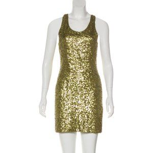 Alice + Olivia Gold Mini Dress (XS/S)